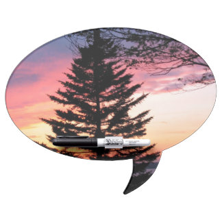 Silhouetted Tree at Sunset Dry-Erase Boards