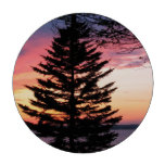 Silhouetted Tree at Sunset Poker Chip Set