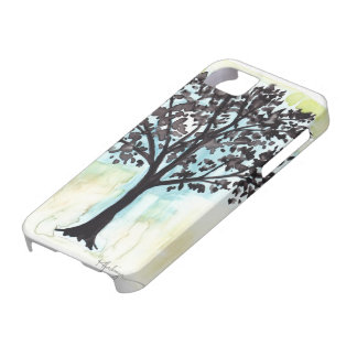silhouetted tree iPhone 5 case