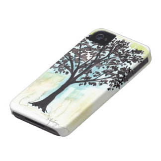 silhouetted tree iPhone 4 cover
