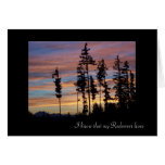 Silhouetted Trees Sympathy Card