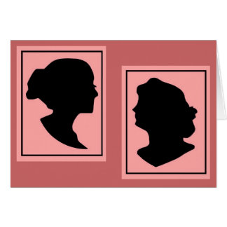 Silhouettes 4 stationery note card