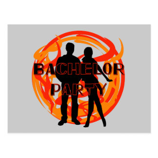 Silhouettes Bachelor Party Tshirts and Gifts Postcard