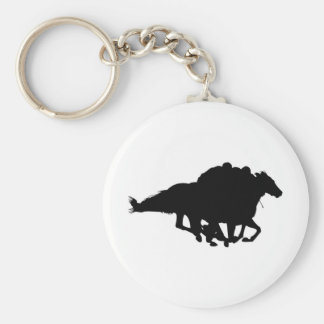 Silhouettes - Horse Racing - T-Breds Keychain