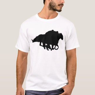 Silhouettes - Horse Racing - T-Breds T-Shirt