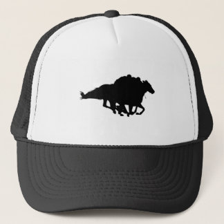 Silhouettes - Horse Racing - T-Breds Trucker Hat