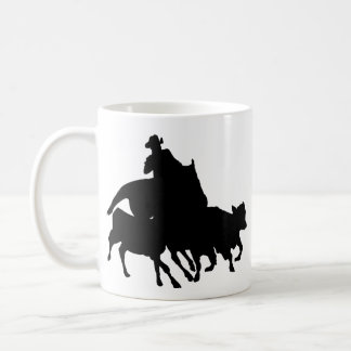 Silhouettes - Horses - Team Penning Coffee Mug