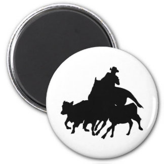 Silhouettes - Horses - Team Penning Magnet