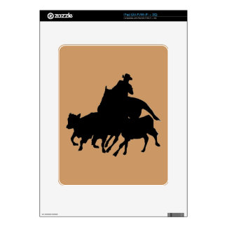 Silhouettes - Horses - Team Penning Decals For The iPad