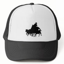 Silhouettes - Horses - Team Penning Trucker Hat
