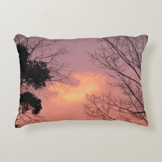 Silhouettes In A Sunrise Sky Accent Pillow