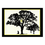 Silhouettes  Miniature Artwork Cards Business Card Template