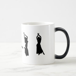 Silhouettes of Belly Dancers 11 Oz Magic Heat Color-Changing Coffee Mug