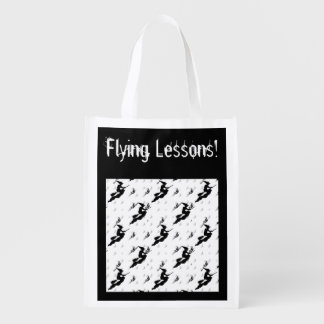 "Silhouettes of Black Witches in ""Flying Lessons"" Grocery Bag"