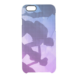 Silhouettes of Business People with Teamwork Clear iPhone 6/6S Case