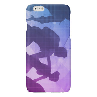 Silhouettes of Business People with Teamwork Glossy iPhone 6 Case
