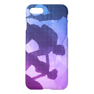 Silhouettes of Business People with Teamwork iPhone 7 Case