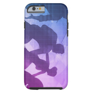 Silhouettes of Business People with Teamwork Tough iPhone 6 Case