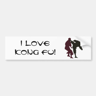 Silhouettes of Martial Artists During a Fight Bumper Sticker