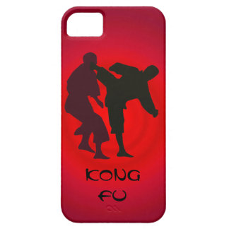 Silhouettes of Martial Artists During a Fight iPhone SE/5/5s Case