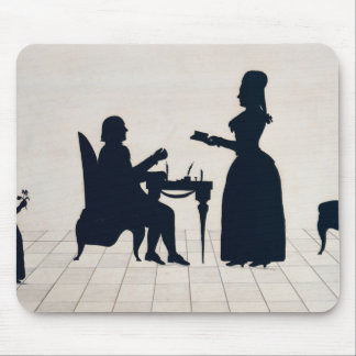 Silhouettes of Monsieur and Madame Roland Mouse Pad