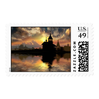 Silhouettes of the Christianity Stamps