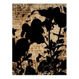 SILHOUETTES-PANSIES POSTCARD