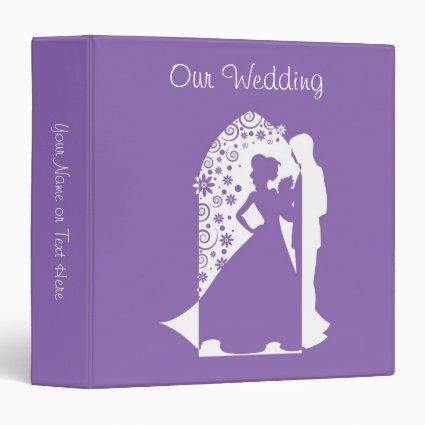 Silhouettes Purple Wedding Vinyl Binder