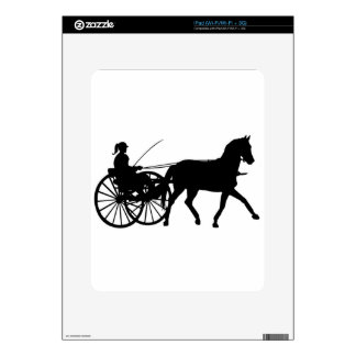 Silhouettes - Teamsters - Horses - Horse n Buggy iPad Skin