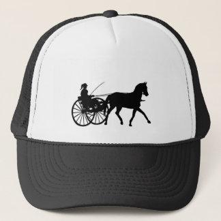 Silhouettes - Teamsters - Horses - Horse n Buggy Trucker Hat