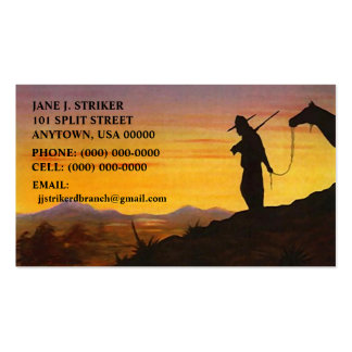 SILHOUETTES w/ WESTERN SKY SUNSET BUSINESS CARDS! Double-Sided Standard Business Cards (Pack Of 100)