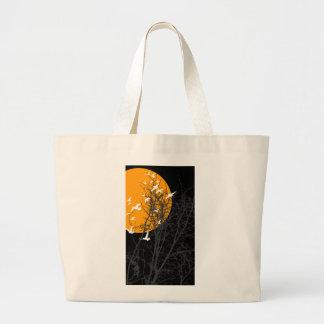 silhouscreen birds canvas bags