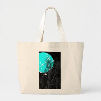 silhouscreen birds tote bag