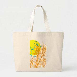 silhouscreen birds tote bags