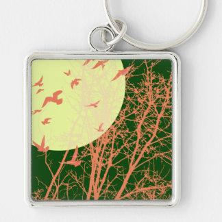 silhouscreen birds keychain