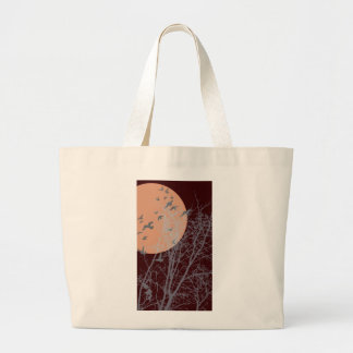 silhouscreen birds large tote bag