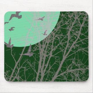 silhouscreen birds mouse pad