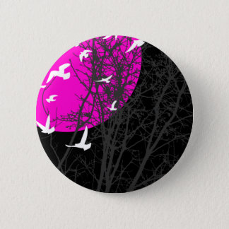 silhouscreen birds pinback button