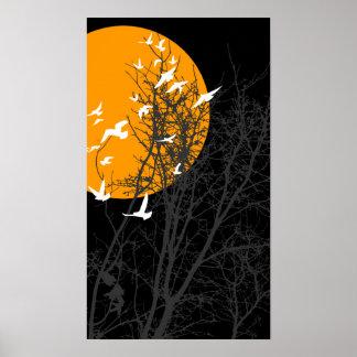 silhouscreen birds posters