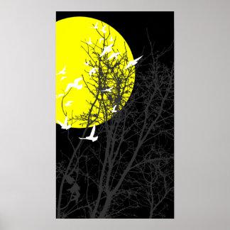 silhouscreen birds poster