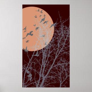 silhouscreen birds print