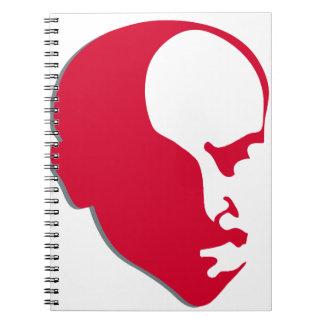 Silhuette rojo de la plantilla de Vladimir Ilich Note Book
