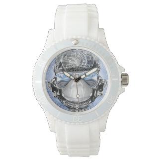 Silicio blanco de parachoques relojes de mano