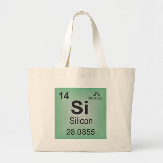 Silicon Individual Element of the Periodic Table Canvas Bag