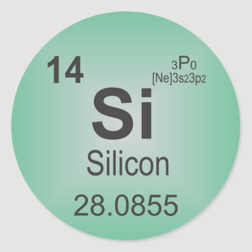 Silicon Individual Element of the Periodic Table Sticker