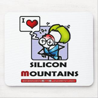 silicon mountains mouse pad