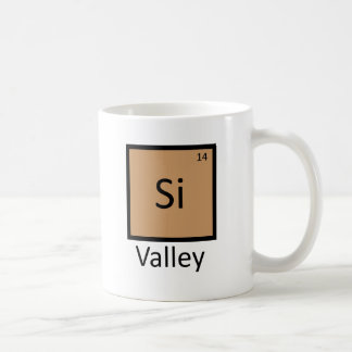 Silicon Valley Chemistry Periodic Table Pun Coffee Mug
