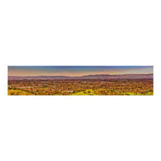 Silicon Valley/Cupertino Panoramic View Print