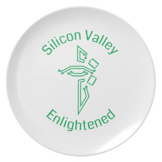 Silicon Valley Enlightened Melamine Plate