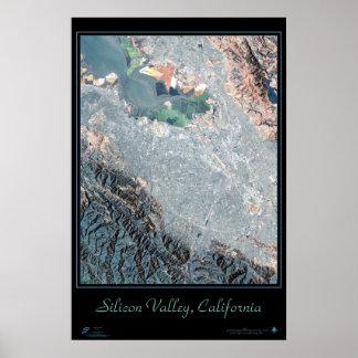 Silicon Valley impresión por satélite del poster